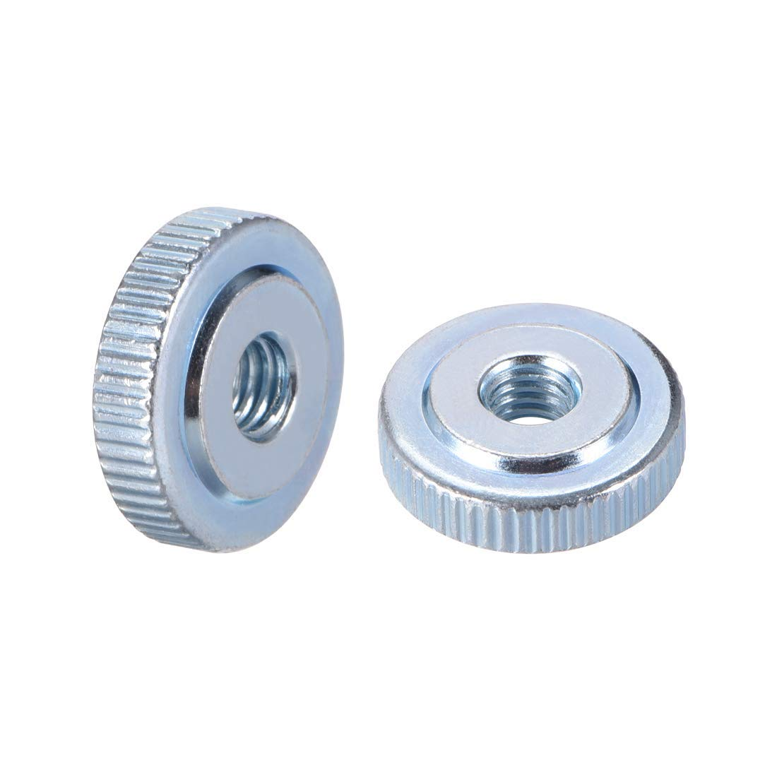 Pack of 10 ZCHXD Knurled Thumb Nuts Blue Zinc Plating M6 Female Threaded Thin Type