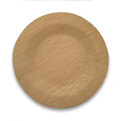 Bamboo Disposable Plates (25 pack) | Compostable & Biodegradable Tableware | Made of 100% Bamboo | Wedding, Party Planning or Sustainable Living Ebook Included (7