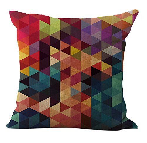 linen blend abstract colorful geometry