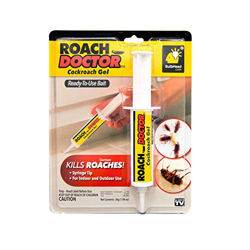 BulbHead Original Roach Doctor Cockroach Gel Ready-to-Use Cockroach Gel Bait - Outdoor & Indoor Roach Killer with Syringe Applicator ()