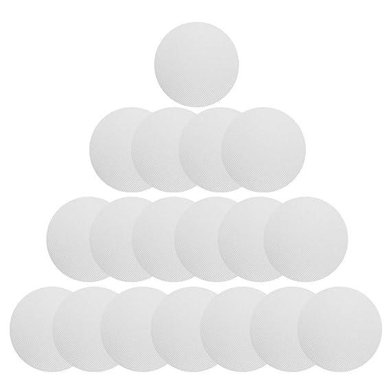 [18 Stück] Anti Rutsch Sticker, Htianc Rund Aufkleber Transparent und Selbstklebend für Badewanne, Dusche und Bad, 10mm Durch
