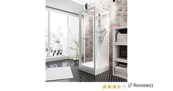 Schulte 4061554000980 Siena - Cabina de ducha completa, cristal de seguridad transparente, perfil blanco: Amazon.es: Bricolaje y herramientas