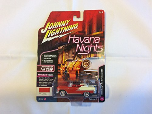 Johnny Lightning JLMC013 Muscle Car 1955 Chevy Bel Air Ver A Gypsy Red ()