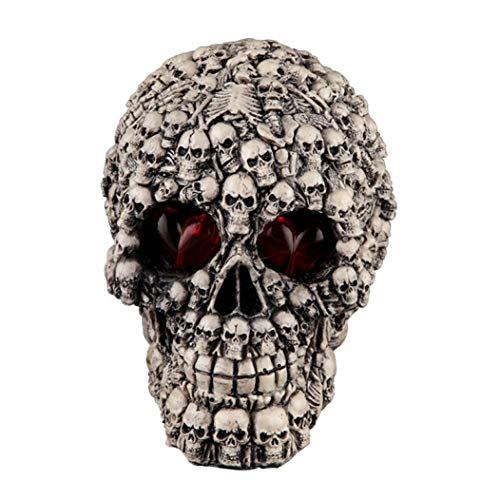 Mons Home Store Lost Souls Skull Statue Skeleton Graveyard of Craniums Figurine Sculpture Horror Halloween Decoration -