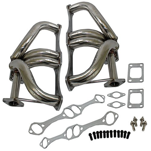 - For Small Block Chevy SBC GM 350 305 400 T3 T4 Twin Turbo Headers 5.0L 5.7L