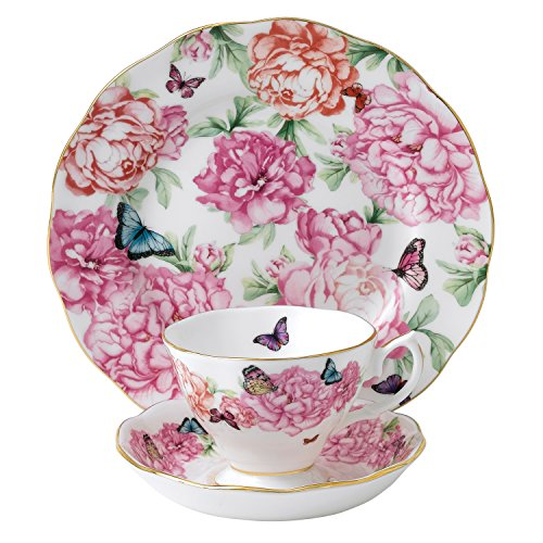 Royal Albert Gratitude 3-Piece Teacup, Saucer and Plate Set Designed by Miranda Kerr