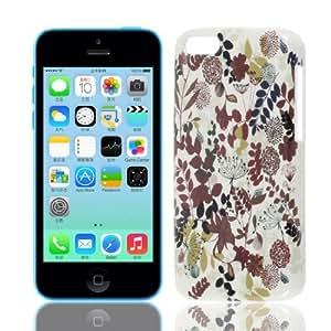 Patrón de colores surtidos Hoja IMD caso trasero duro Shell para el iPhone 5C