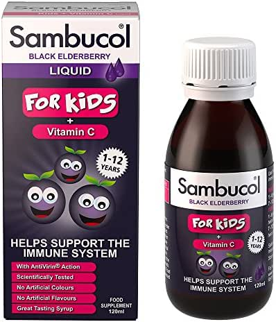 Vitamins & Supplements: Sambucol Black Elderberry Syrup for Kids