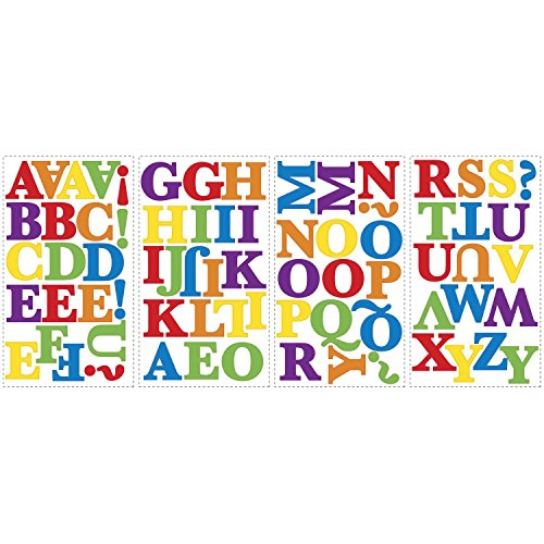 RoomMates RMK1253SCS Express Yourself Primary Colors Peel U0026 Stick Wall  Decals