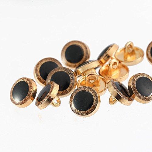 Pack de 15 de lujo CAMISA DE VESTIR botones, 10mm, con caña, para ...