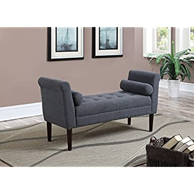 Christies Home Living Bedroom Bench Upholstered Accent Bench with 2 Bolsters