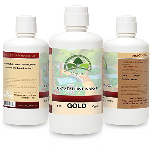 The BEST Nano Colloidal Gold Mineral - 30 Parts Per Million - Colloidal Minerals - Liquid Colloidal Gold (30 PPM, 32 Ounces) by NutriNoche