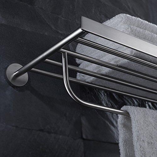 From usa kraus kea 12242bn imperium bathroom accessories Bathroom towel stands brushed nickel