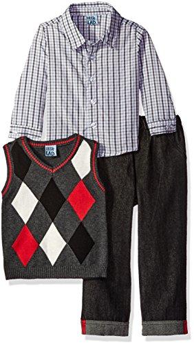 Black And White Argyle Sweater - 2