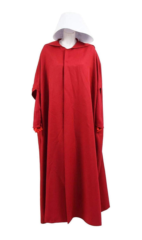 Qingning Handmaid Kostüm Damen Magd Rot Kleid Umhang Robe Cape Mantel Halloween Cosplay Bekleidung Anzug B07H94N5PX Kostüme für Erwachsene Spaß  | Haltbarer Service