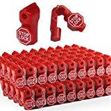 Betertek Peg Hook Locks Stop Lock 100pcs Plastic red Stop Locks Anti Theft Lock Retail peg Hook Security Locks pegboard peg Locks Retail Security Display Hook Lock