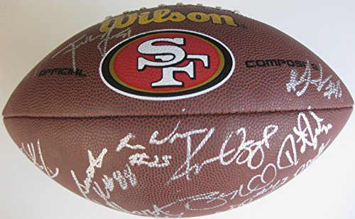 - 2014 San Francisco 49ers, Niners, Team, Signed, Autographed, NFL Logo Football, a COA and the Proof Photos of 49ers Players Signing the Football Will Be Included