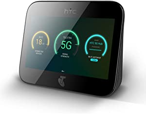 HTC Sprint 5G Hub 5G and 4G LTE Hotpsot | Up to 20 WiFi Devices and 1 Wired | Great for Remote Workers | Android 9.0 | 2.4GHZ and 5GHZ | 7660MAH All Day Battery