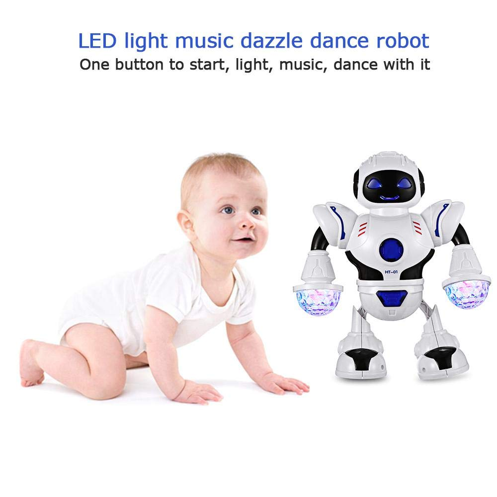 AOLVO Dancing Robot for Kids, Electronic Walking Dancing Robot Toy - Toddler Toys - Best Gift for Boys and Girls