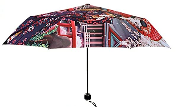 Amazon.com : Katoot@ Novelty items cherry blossom flower umbrella rain women Janpanese women printing plegable sombrillas paraguas mujer high quality ...