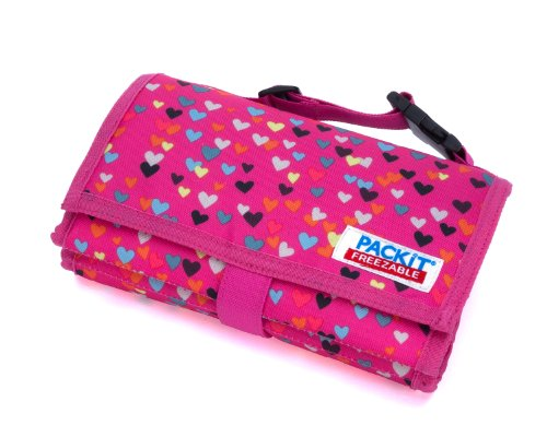 PackIt Freezable Lunch Bag with Zip Closure, Hearts