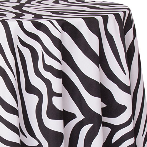 Ultimate Textile Zebra 120-Inch Round Party Tablecloth by Ultimate Textile