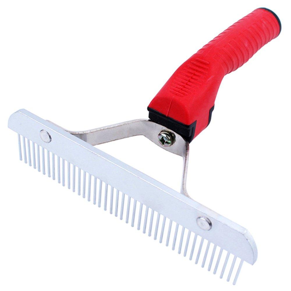 Red Fan Star Pet Hair Brush, Medium and Large Dog Long Hair Comb pet Grooming Brush