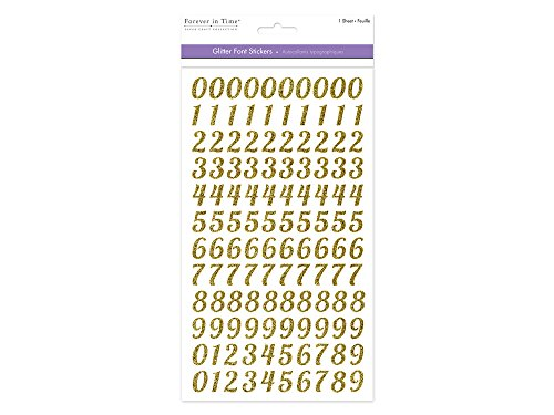 scrapbooking numbers gold - 3