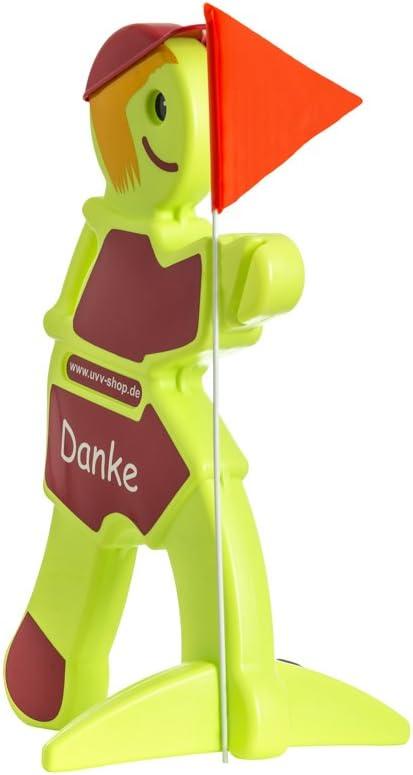 Danke Spielende Kinder Warnaufsteller 3D reflektierend rot Kinder Vorsicht