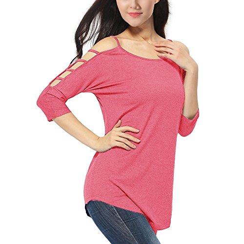 Amourri Womens Sleeve Shoulder T shirt