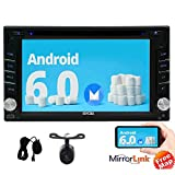 Eincar Quad-Core 64bit 6.2 Inch Android 6.0 HD Digital Multi-touch Screen in Dash Double din Car Stereo Autoradio Bluetooth GPS Navigation Car DVD Player support 1080P Video Screen Mirroring OBD2