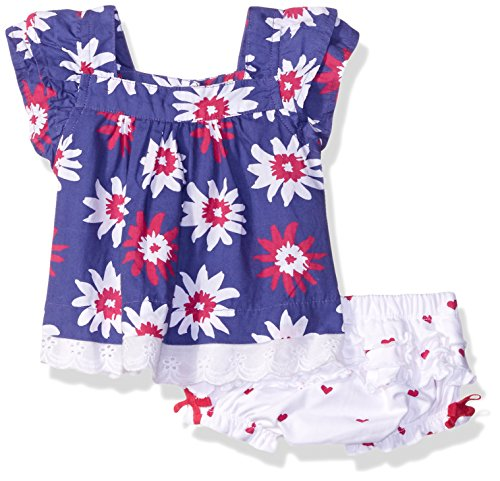 Summer Hatley Garden (Hatley Baby Girls' Lady Bug Garden-Flowers Tunic, Blue, 12-18 Months)