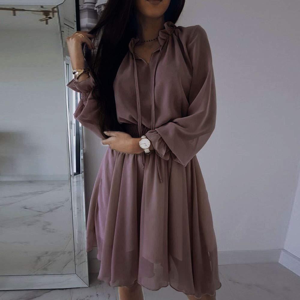Faldas para Mujer, BBestseller 2019 Verano Cintura Delgada Elegante Casual Mujer Vestido de la Camiseta Playa Falda Ropa Party Dresses: Amazon.es: Ropa y ...