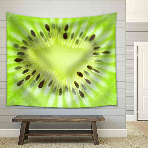 a kiwi fruit - Fabric Wall Tapestry Home Decor - 51x60 inches ()
