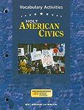 American Civics, Holt, Rinehart and Winston Staff, 0030676819