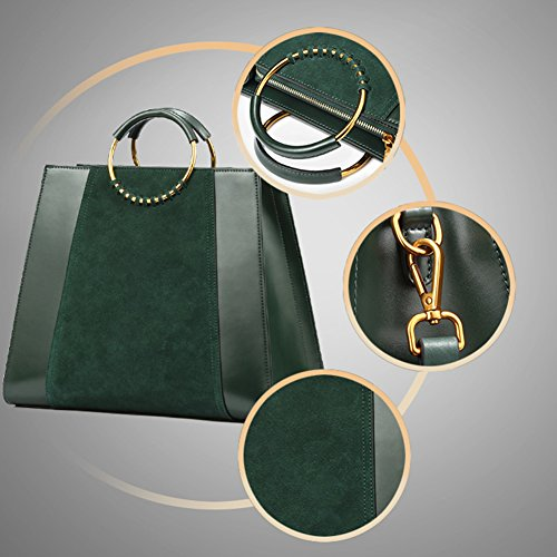 Totes Handbags for Top Leather Cowhide Layer Women Evening First Genuine Handbags Purse Handle 0qwSggI