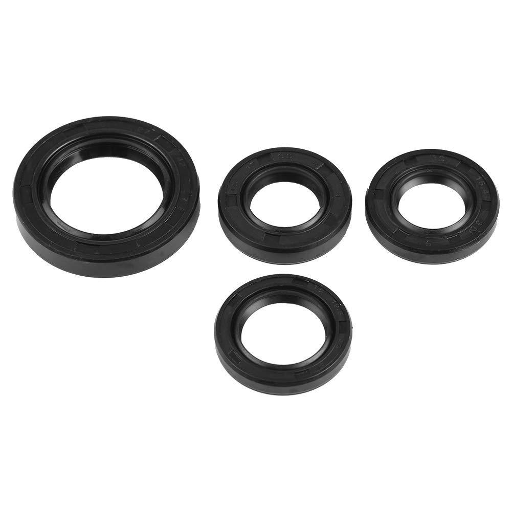 Oil Seal-4 Pcs Motor Kurbelwelle Getriebe Kurbelgeh/äuse /Öldichtung for die meisten GY6 50cc 139 QMB Scooter