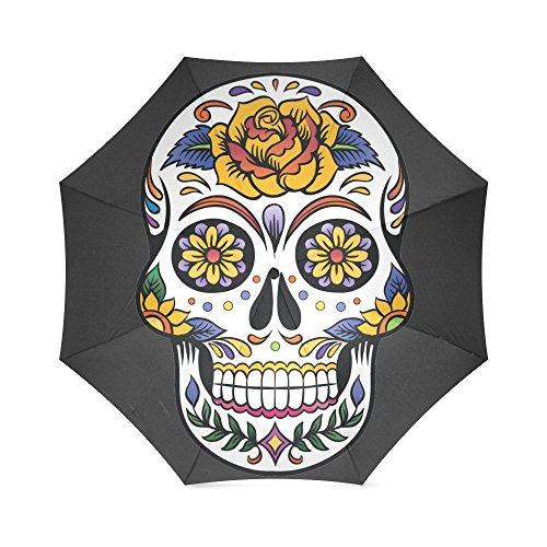 Fashion Design Sugar Skull Umbrella -Auto