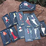 Autumn Water Mini Love Tarot Classic Divination Poker Cards Creative Board Games Chinese/English Edition for Astrologer with Box/Tablecloth