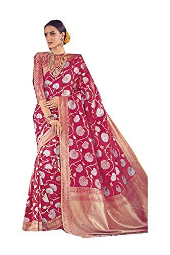 Da Facioun Indian Sarees for Women Wedding Designer Party Wear Traditional Pink Sari. by Da Facioun
