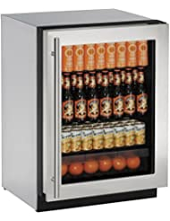 U-Line U2224RGLS00B 24 2000 Series Built In Compact Refrigerator with 4.9 cu.ft. Capacity, in Stainless Steel