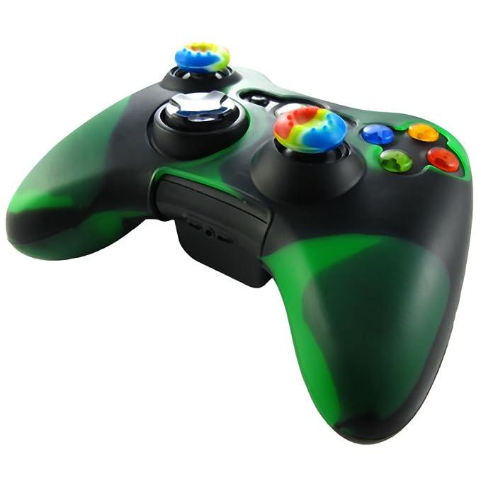 150 opinioni per Pandaren silicone skin Pelle per XBOX 360 Controller (verde scuro + nero) +