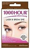 1000 Hour Eyelash & Brow Dye / Tint Kit Permanent MascaraNatural Gentle Plant Extract (Dark Brown)