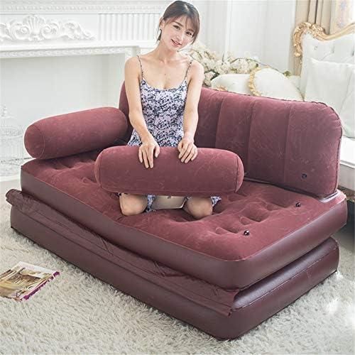 屋外の怠惰で膨脹可能なソファーベッドの膨脹可能な二人は家の庭のキャンプの多機能のソファのためのソファーベッドを引き出します