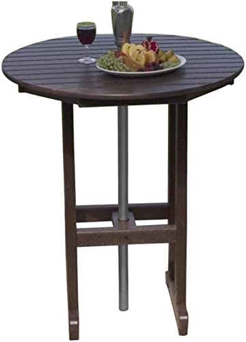 PolyWood RBT236SA Sand La Casa Cafe Round 36 Bar Table RBT236