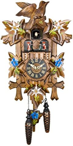 Engstler Quartz Cuckoo Clock – Alpine Flowers Handpainted