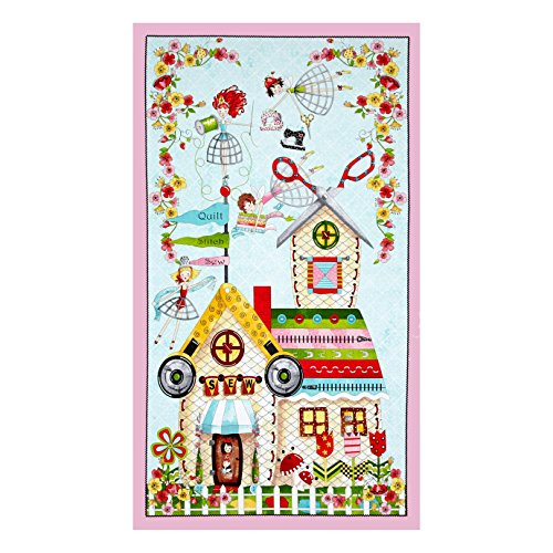 Quilting Treasures The Quilted Cottage 24in Panel Multi ()