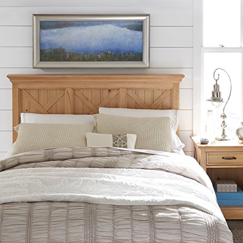 Country Lodge Pine Queen Headboard & Night Stand by Home - Wood Pine Lodge