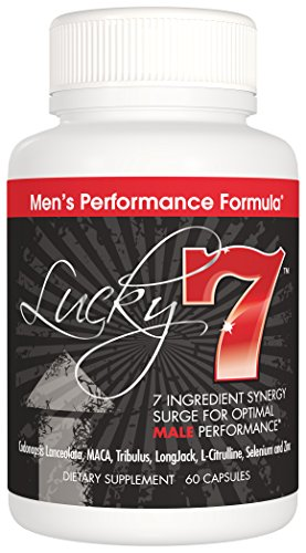 Lucky 7 Dietary Supplement (60 Capsules) Male Health Support Herbal Supplements for Increased Energy & Vitality