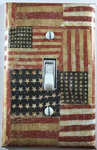 Rustic American Flag Country Americana Decor Decorative Light Switch Cover Wall Plate Light Country Switches